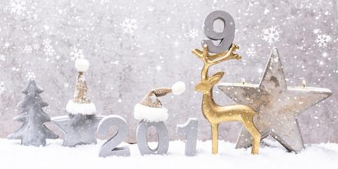 Weihnachtskarte Silvesterkarte 2019 Card