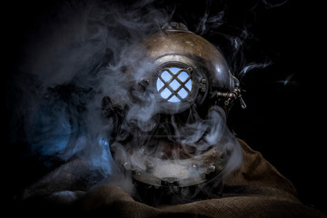 Steam punk diver helmet