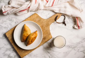 Empanadas is a traditional dish popular in the Iberian Peninsula and in Latin America. In essence, any fried pies in Spanish-speaking countries
