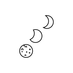 Moon concept line icon. Linear Moon concept outline symbol design. This simple element illustration can be used for web and mobile.