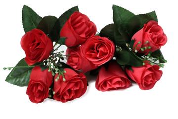Red Rose Decoration flower on black background