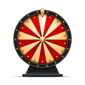 wheel of fortune 3d object isolated on white background