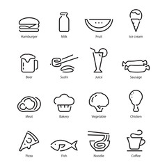 Food icon, vector