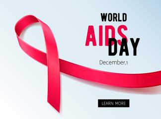 World aids day background.