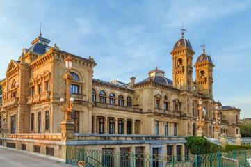 Fototapeta premium Ratusz San Sebastian, Hiszpania