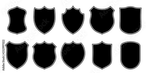 Badge patch shield shape vector heraldic icons  Football or soccer