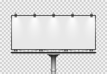 Blank big billboard. Mockup for your advertisement and design Wall mural