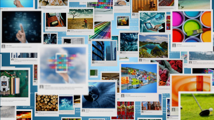 Photo gallery and Picture sharing concept on Internet