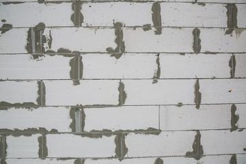 Foam block wall