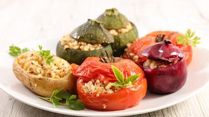 stuffed vegetable- tomato, zucchini and potato