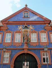 Fassade des barocken Frank Hauses Marktheidenfeld