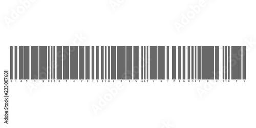 Realistic barcode icon  Barcode vector illustration  Logo
