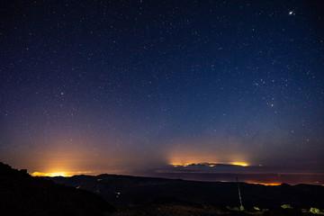Stargazing at Altavista Refuge, Teide Mountain, Teide National Park, Tenerife, Canary ISlands, SPain