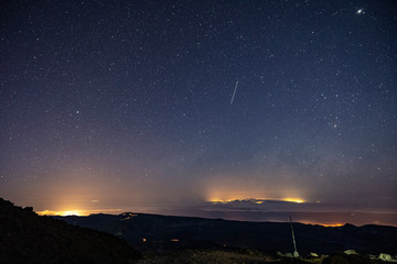 Stargazing at Altavista Refuge, Teide Mountain, Teide National Park, Tenerife, Canary ISlands, SPain