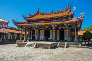 Wall Murals Place of worship Taipei Confucius Temple and blue sky in Taipei, Taiwan.
