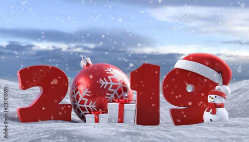 Weihnachten 2019 Schnee.3d Illustration 2019 Weihnachten Schnee Stock Photo And Royalty
