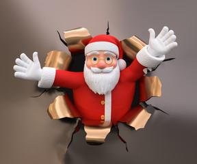 3D Illustration Weihnachtsmann Begrüßung