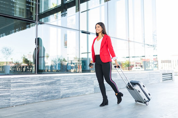 Entrepreneur With Luggage Ready For Business Trip