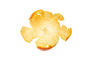Empty opened rind from mandarin