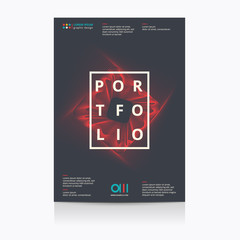 Modern abstract poster Layout with blend shapes. Vector illustration.