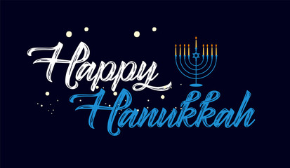 Hanukkah, the Jewish Festival of Lights, festive background with menorah and golden lights. Golden, beige and turquose colors. Vector illustration hanukkah chanukah menorah banner hannukah hanukka hap