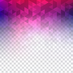 colorful transparent polygonal background