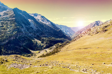 Mountains of Cerler in the Pyrenees