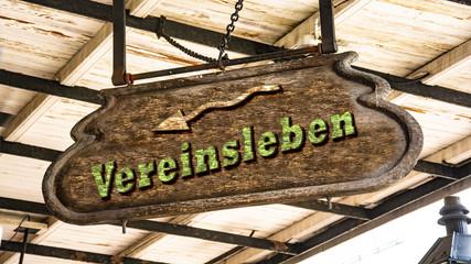 Schild 340 - Vereinsleben