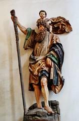 Stores à enrouleur Commemoratif St. Christophorus, Dom St. Marien, Freiberg, Sachsen