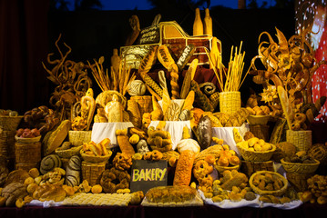 The New Year decoration made of bread