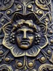 Tête de bacchus; dieu du vin