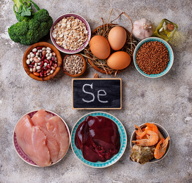 Healthy product sources of selenium.