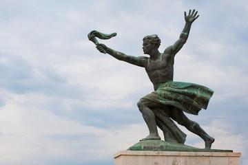 Statue of torch-bearer on Gellert Hill, Budapest