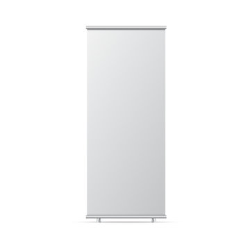 Blank roll up banner stand. Empty  mock up for presentation