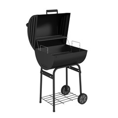 Charcoal Grill Isolated
