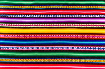 Textil Textur peruanischer Stoff Hintergrund bunte Streifen Muster