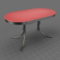 Retro oval table