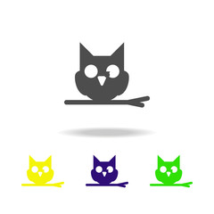 owl multicolored icon. Element of ghost elements illustration. Signs and symbols icon can be used for web, logo, mobile app, UI, UX