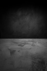 concrete background. dark wall and floor interior background with space