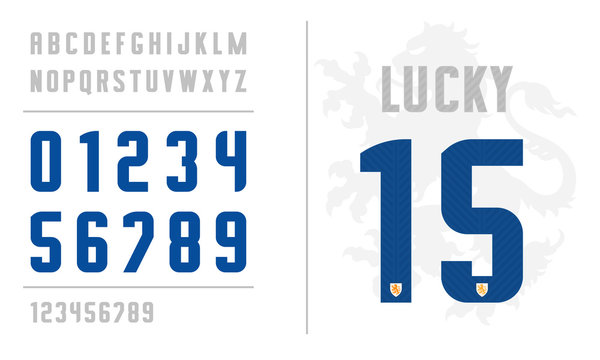 Uniform letters and numbers for sport apparel