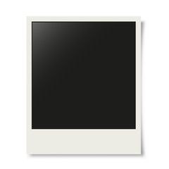 Old photo frame mockup. Vector illustration.