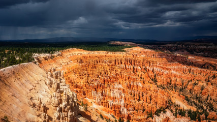 Monsoon Storm on the way - Bryce Canyon from Inspiration Point