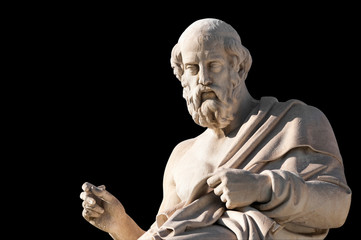 classic statues Plato close up