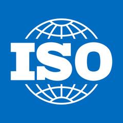 ISO icon. International Organization for Standardization sign, symbol