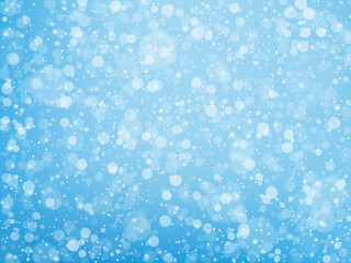 Falling snow. Christmas and New Year background. Vector illustration