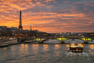 Printed roller blinds Paris Eiffel tower, Paris
