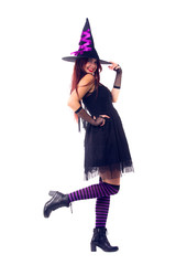 Picture of witch in black dress and hat