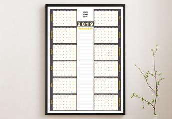 Calendar Poster Layout