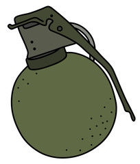 The old khaki offensive hand grenade