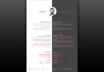 Black and White Resume Layout